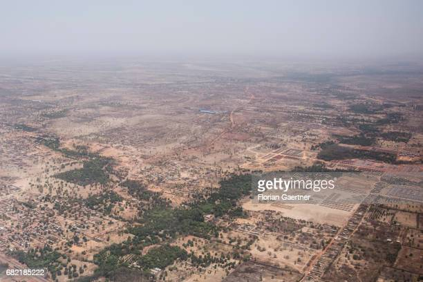 Aerial view of the desert at Gao on April 07 2017 in Gao Mali