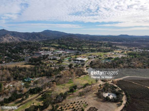 aerial view east canyon area escondido