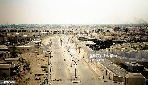 Aerial view of the eastern side of Colonel Gaddafi's home city of Sirte taken from the 5star hotel that overlooks it on October 07 2011 in Libya NTC...