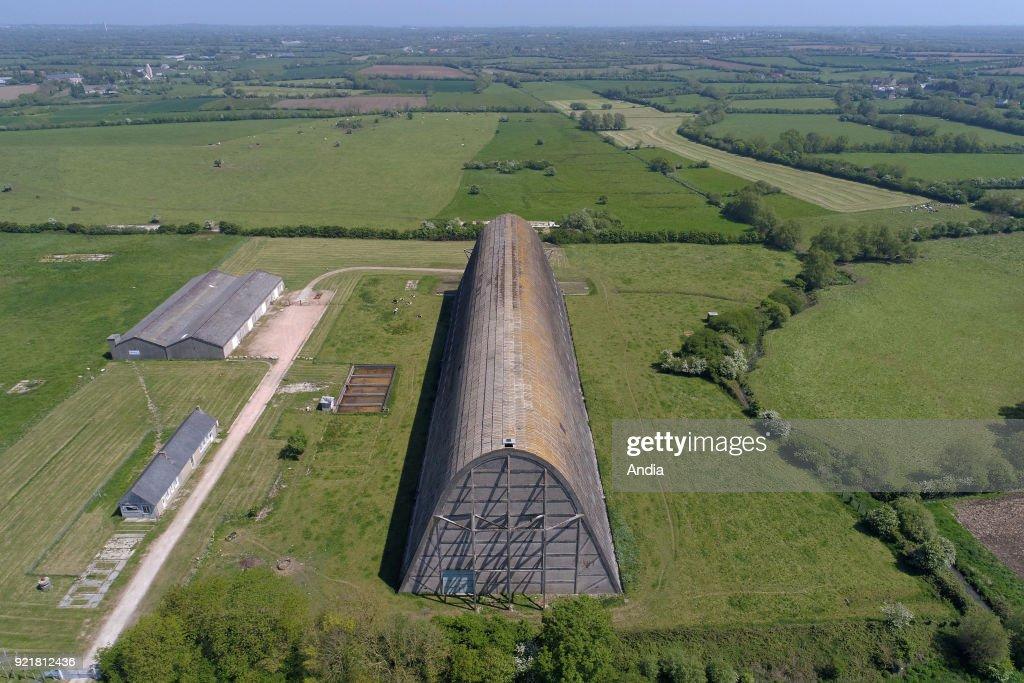 Ecausseville, the airship hangar. : News Photo