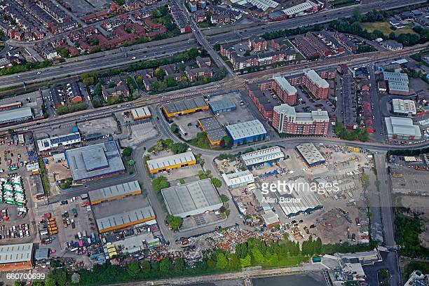 aerial view of the eccles warehouse in manchester - グレーターマンチェスター ストックフォトと画像