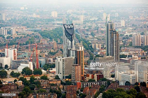 Aerial view of the Elephant and castle district of London