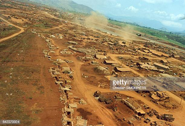 Aerial view of the entrenched camp of Khe Sanh