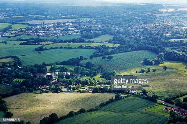 Aerial view of the Essex hamlet of Toot Hill