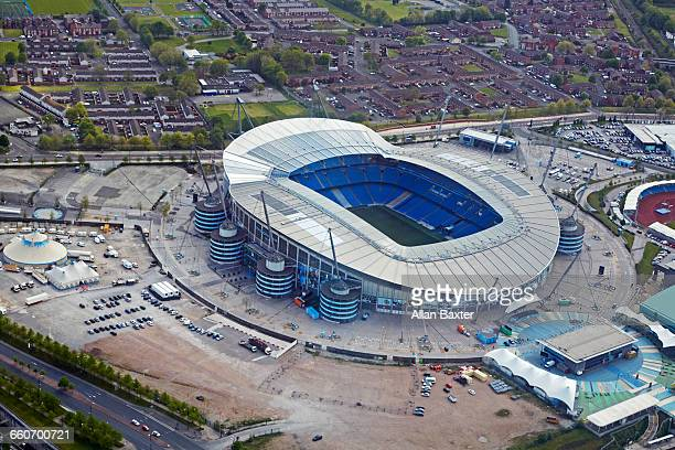 Aerial view of the Etihad, home of Manchester City