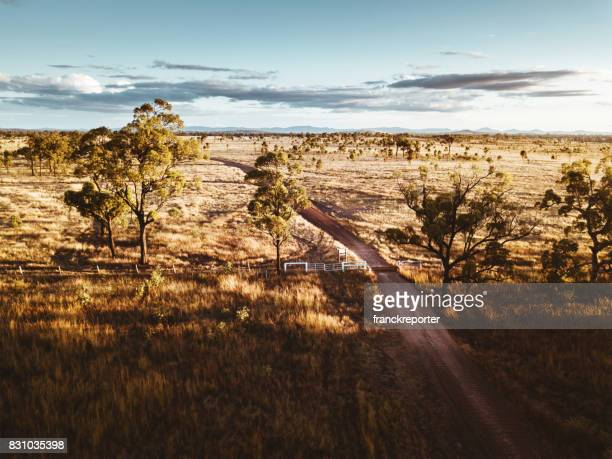 aerial view of the farm in the new south wales countryside - australia photos stock photos and pictures