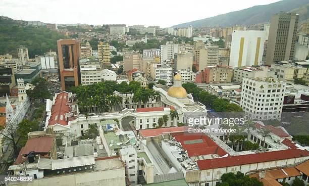 Aerial view of the Federal Legislative Palace. Caracas, Venezuela.