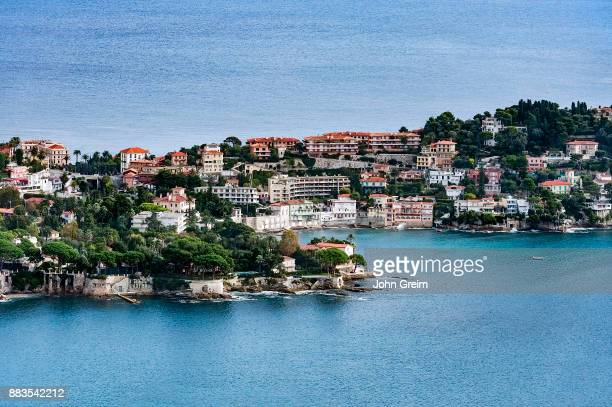 Aerial view of the French commune of Saint Jean Cap Ferrat on the French Riviera