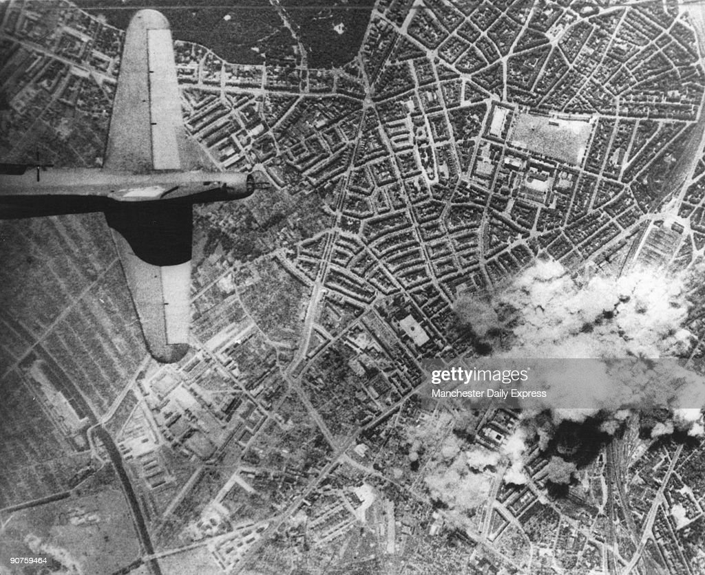 Aerial view of the German city of Hamburg which was heavily bombed by the RAF during the Second World War.