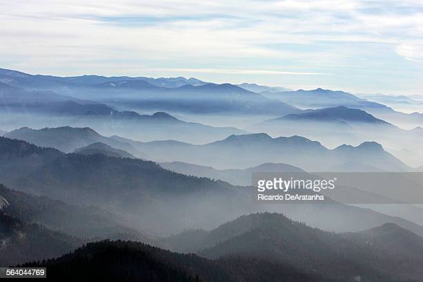 Aerial view of the Giant Sequoia National Monument in the foreground Photo to illustrate a story on Martin Litton one of the grand old men of the...