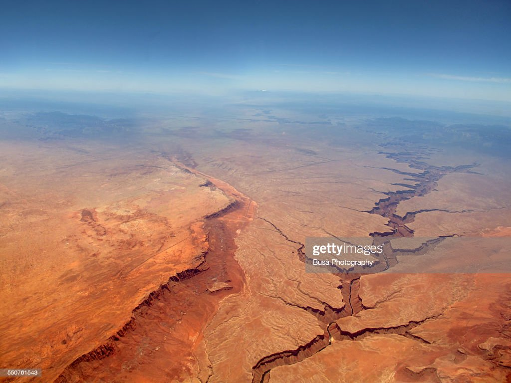 Aerial view of the Grand Canyon : Stock Photo
