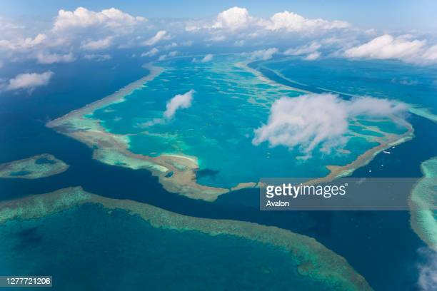 Aerial view of the Great Barrier Reef. Queensland. Australia.