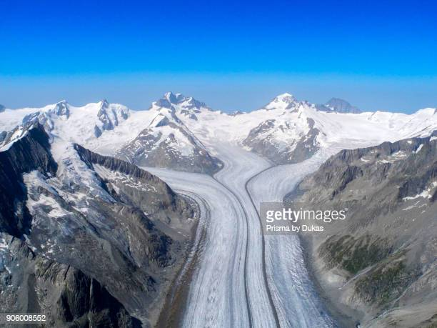 Aerial view of the Grosser Aletsch Glacier