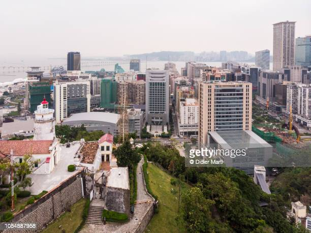Aerial view of the Guia fortress in Macau