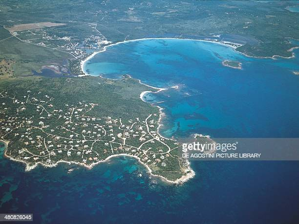 Aerial view of the Gulf of Porto Vecchio Corsica France