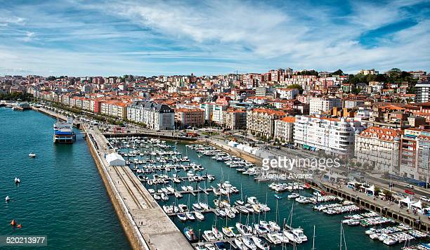 Aerial view of the harbor Santander