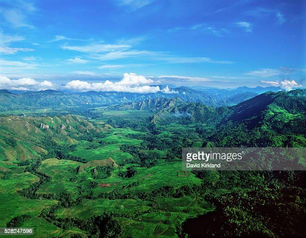 aerial view of the highlands; papua new guinea - papua new guinea stock pictures, royalty-free photos & images