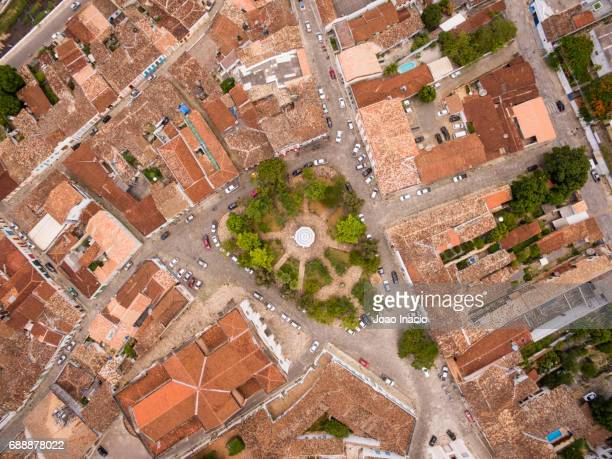aerial view of the historic centre of the town of goiás - goias stock pictures, royalty-free photos & images