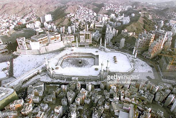 Aerial view of the holy Kaaba in the holy city of Mecca 17 March 2000