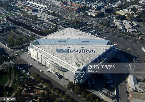Aerial view of the HP Pavilion in San Jose Calif on Tuesday November 7 2006