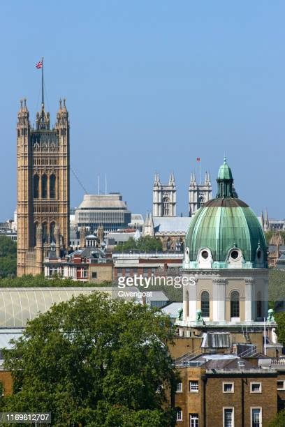 aerial view of the imperial war museum in london - gwengoat stock pictures, royalty-free photos & images