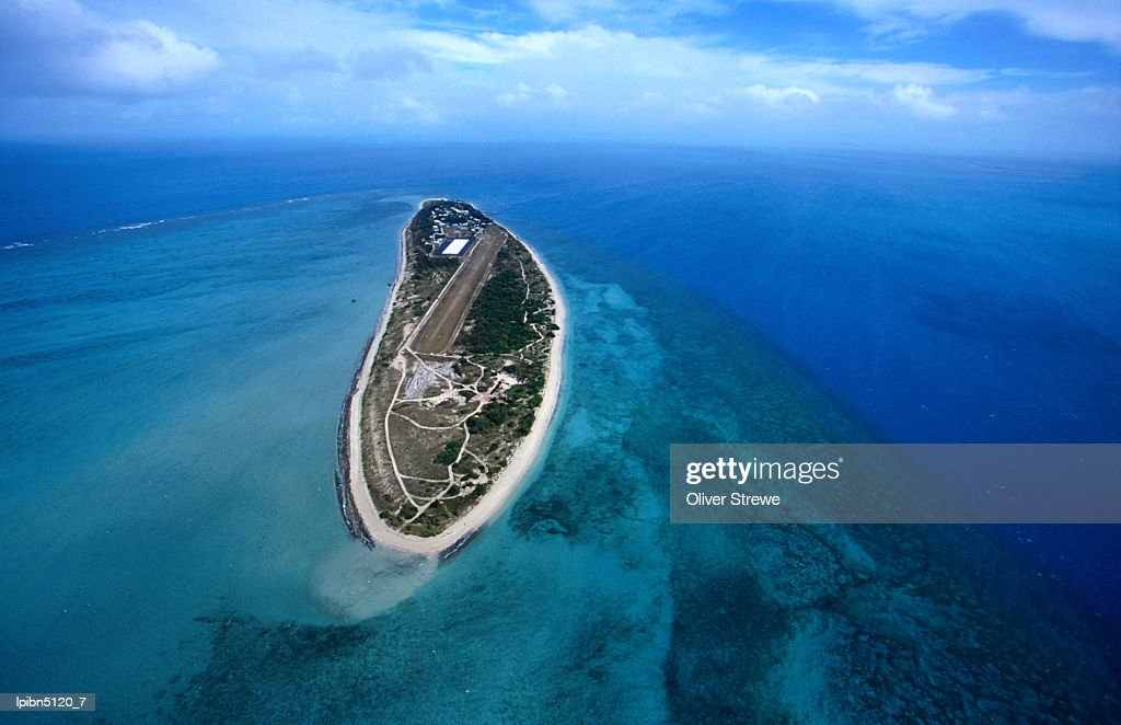 Coconut Island Queensland: Aerial View Of The Island Also Known Locally As Poruma