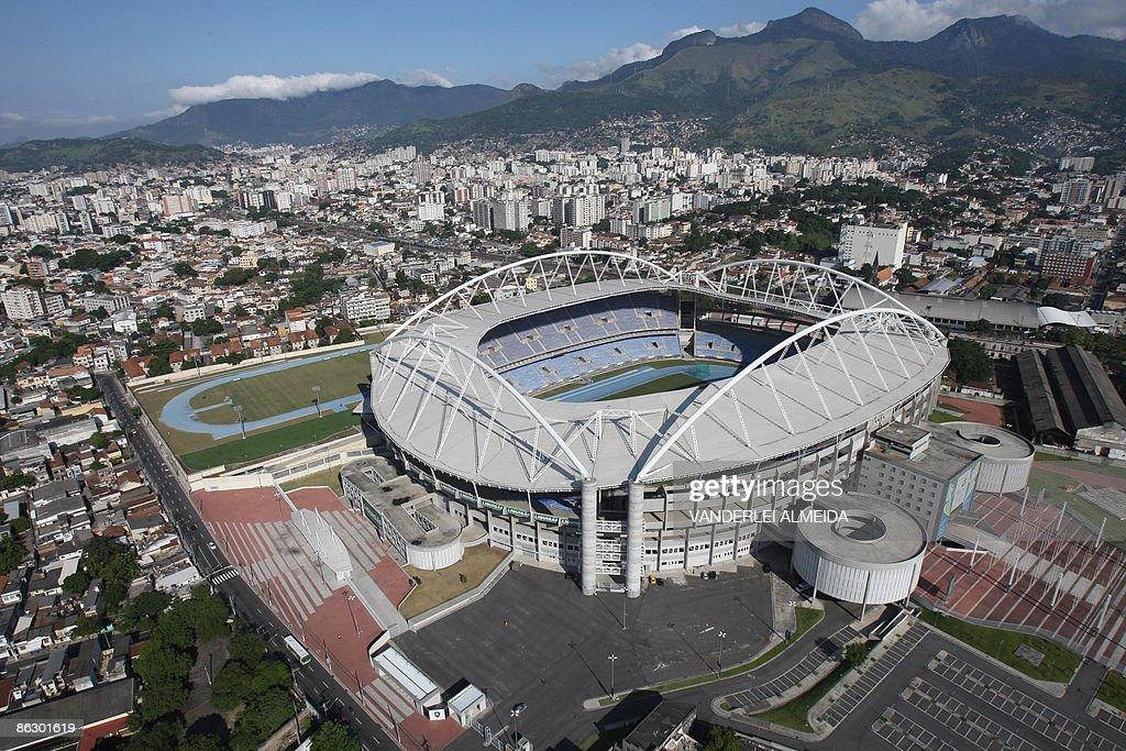 Aerial view of the Joao Havelange Olimpi : ニュース写真