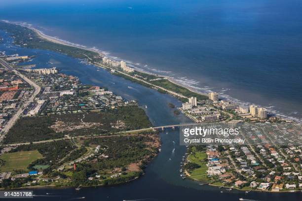 Aerial View of the Jupiter Beach Inlet