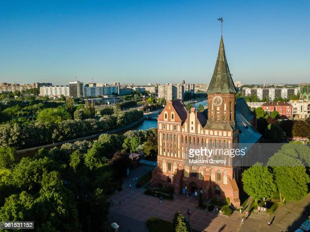 Aerial view of the Kaliningrad Cathedral on Kant's Island, Russia