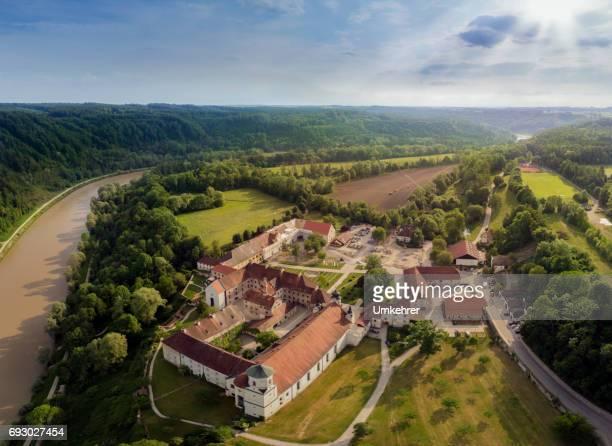 Luftaufnahme des Kloster Raithenhaslach