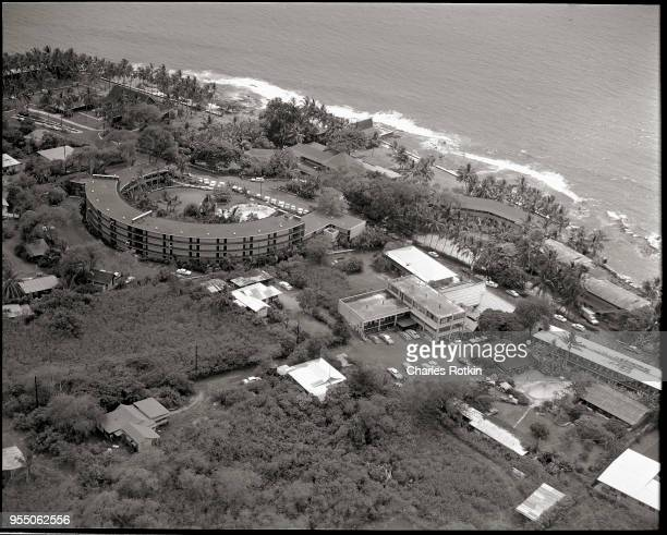 Aerial view of the kona inn The Kona Inn is in the city of Kona on the island of Hawaii Hawaii is the newest of the Hawaiian islands formed in the...