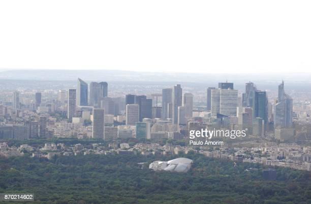 Aerial View of the La Defense District of Paris