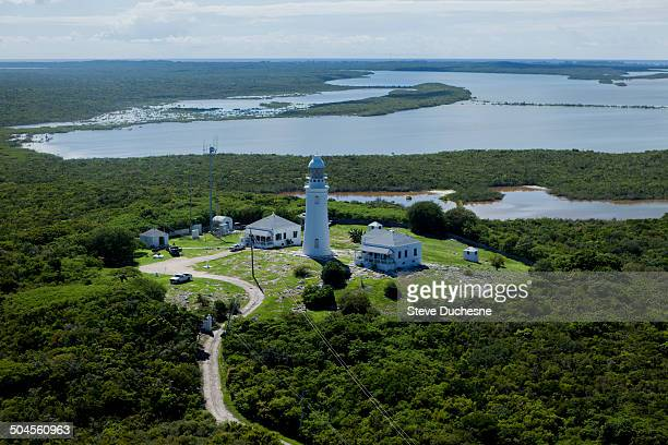 Aerial view of the lighthouse of San Salvador