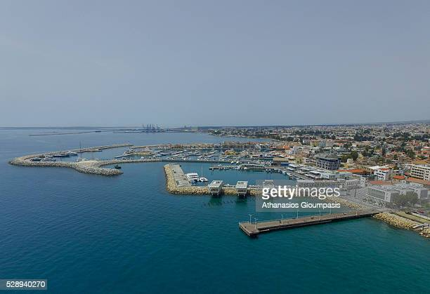 Aerial view of The Limassol Marina on April 30 2016 in Limassol Cyprus Limassol or Lemesos is a city on the southern coast of Cyprus and capital of...