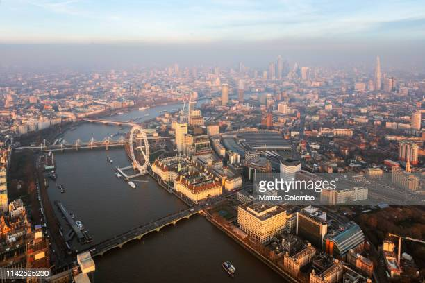 London Eye Tamise Sunset Photo Imprimé Photo store occultant Remote Opt