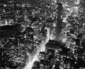 Aerial view of the manhattan skyline at night looking southeast down picture id2695682?s=170x170
