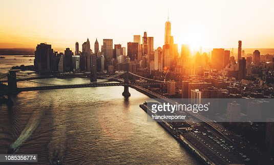 15 510 Nyc Skyline Sunset Photos And Premium High Res Pictures Getty Images