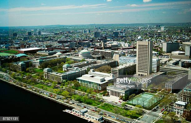 aerial view of the mass. institute of technology, cambridge, ma - cambridge massachusetts stock pictures, royalty-free photos & images