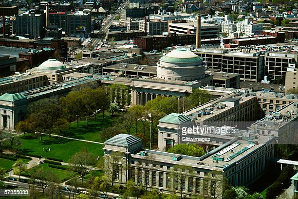 aerial view of the mass. institute of technology, cambridge, ma - massachusetts institute of technology stock pictures, royalty-free photos & images