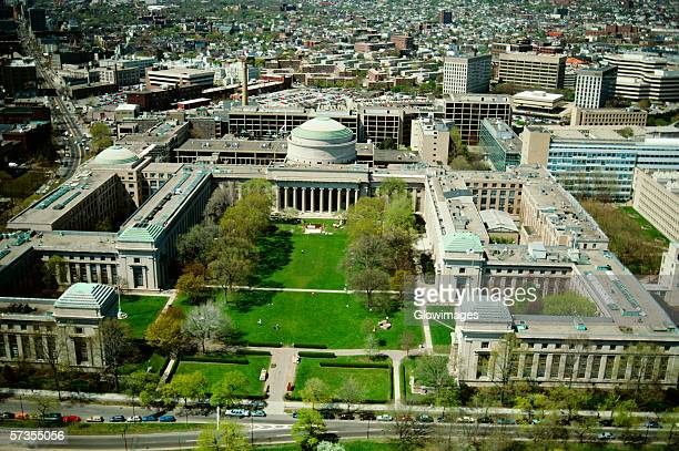 Aerial view of the Mass. Institute of Technology, Cambridge, MA