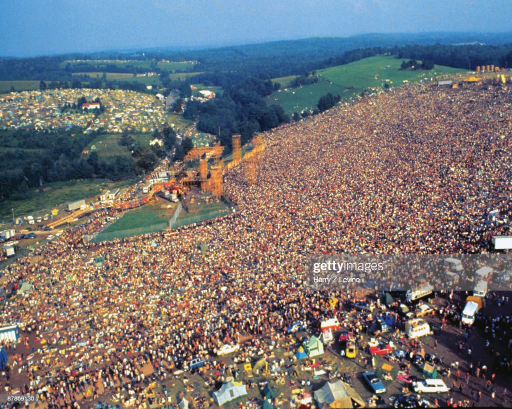Aerial View Of Woodstock Festival : News Photo