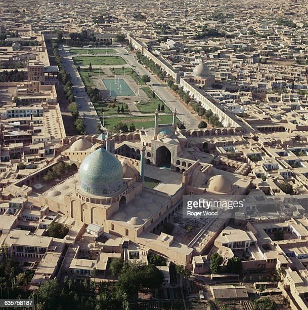 Aerial View of the Maydani Shah and Masjidi Shah in Isfahan Iran