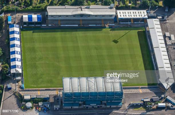 BRISTOL ENGLAND MAY 31 Aerial view of the Memorial Stadium on Filton Avenue Horfield The home of Bristol Rovers Football Club and Bristol Rugby Club...
