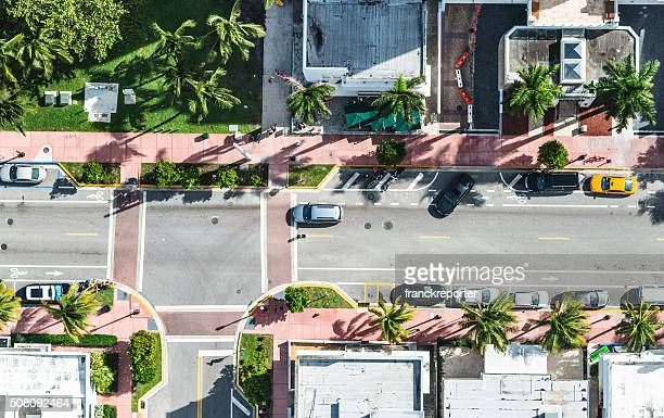 Aerial view of the Miami streets