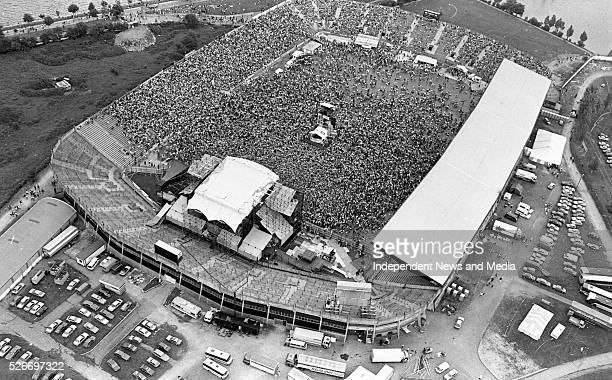 Aerial view of the Michael Jackson concert held at Pairc ui Chaoimh Cork circa July 31August 1 1988