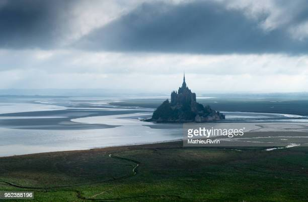 Aerial view of the Mont Saint-Michel