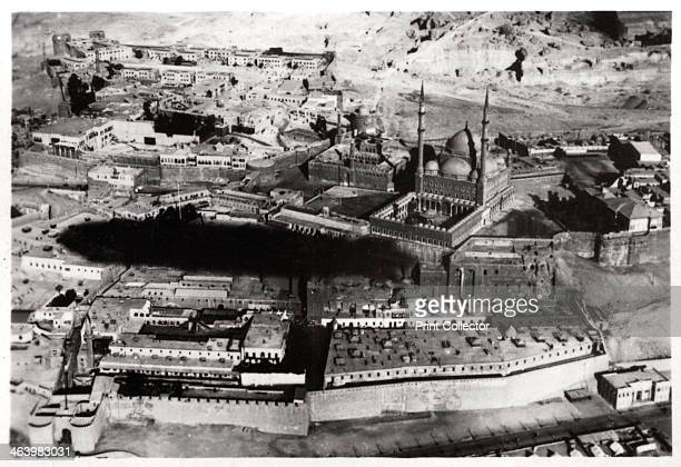 Aerial view of the Mosque of Muhammad Ali Pasha Cairo Egypt from a Zeppelin 1931 A photograph from ZeppelinWeltfahrten Vom ersten Luftschiff 1899 bis...