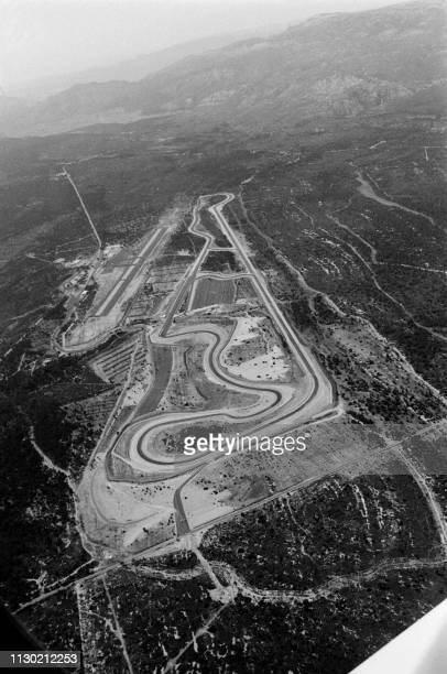 Aerial view of the new French racing circuit in Le castellet on May 5 1970 A new race track with the latest safety features will allow the cars to...