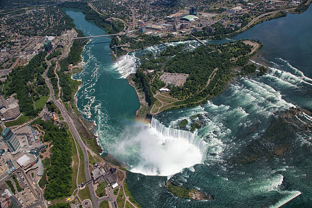 Aerial view of the Niagara Falls. Ontario.Canada.