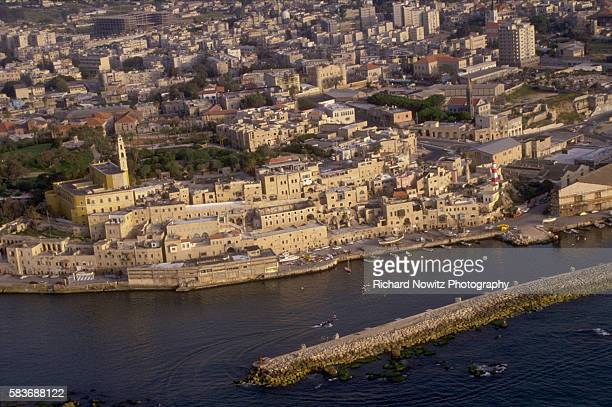 Aerial view of the old view of Jaffa in JaffaTel Aviv Israel